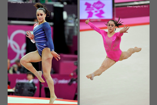 Jordyn Wieber (USA) competing on Floor Exercise during the Artistic Gymnastics competition of the London 2012 Olympic Games.