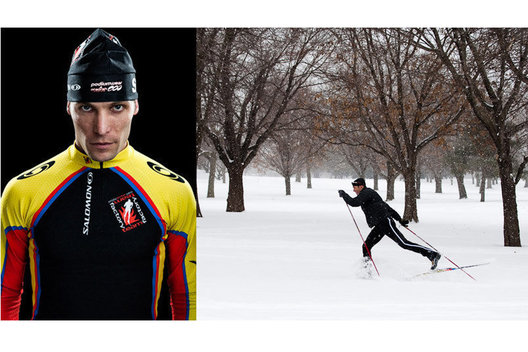 Professional Nordic Ski Racer, Chad Giese, racing for the Factory Team