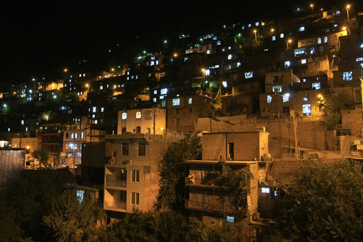 A village at night in Kordestan.