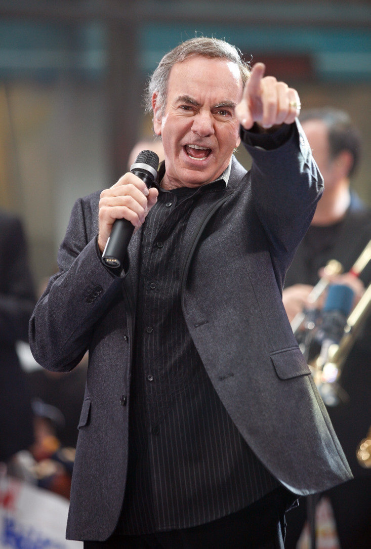"NEW YORK - MAY 02:  Neil Diamond performs On NBC's ""Today"" on May 2, 2008 at Rockefeller Center in New York City.  (Photo by Matt Carr/Getty Images) *** Local Caption *** Neil Diamond"