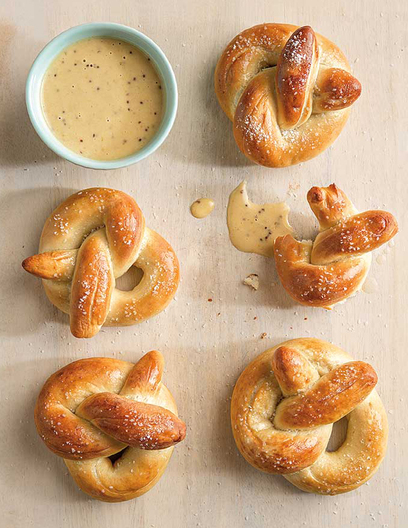 Handmade pretzel knots, food stylist, food photography