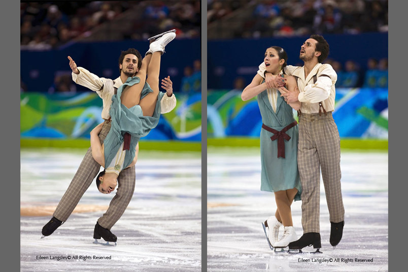 Federica Faiella and Massimo Scali in action during their Free Dance at the 2010 Vancouver Winter Olympic Games.