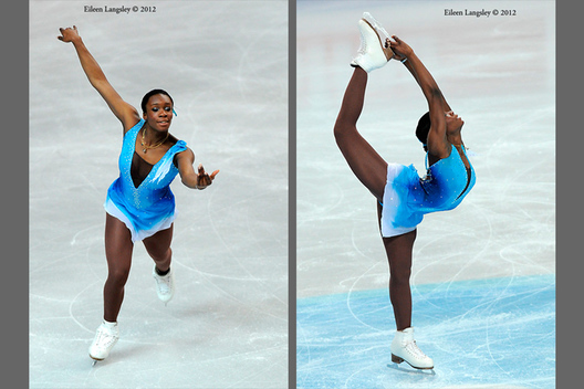 Mae Berenice Meite (France) competing her short programme at the 2012 European Figure Skating Championships at the Motorpoint Arena in Sheffield UK January 23rd to 29th.