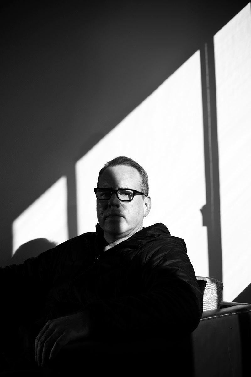 Bret Easton Ellis photographed at his West Hollywood home, Los Angeles, california, February 26, 2013.