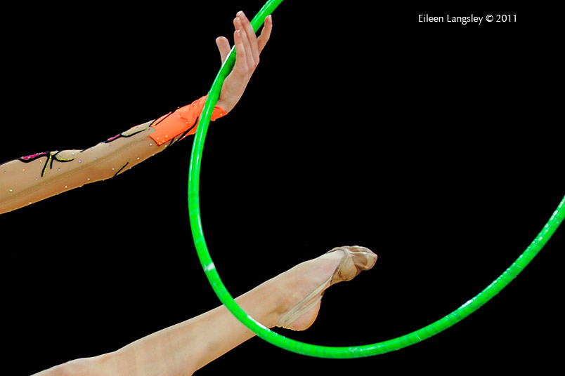 A generic images of Jennifer Pettersson (Sweden) competing with Hoop