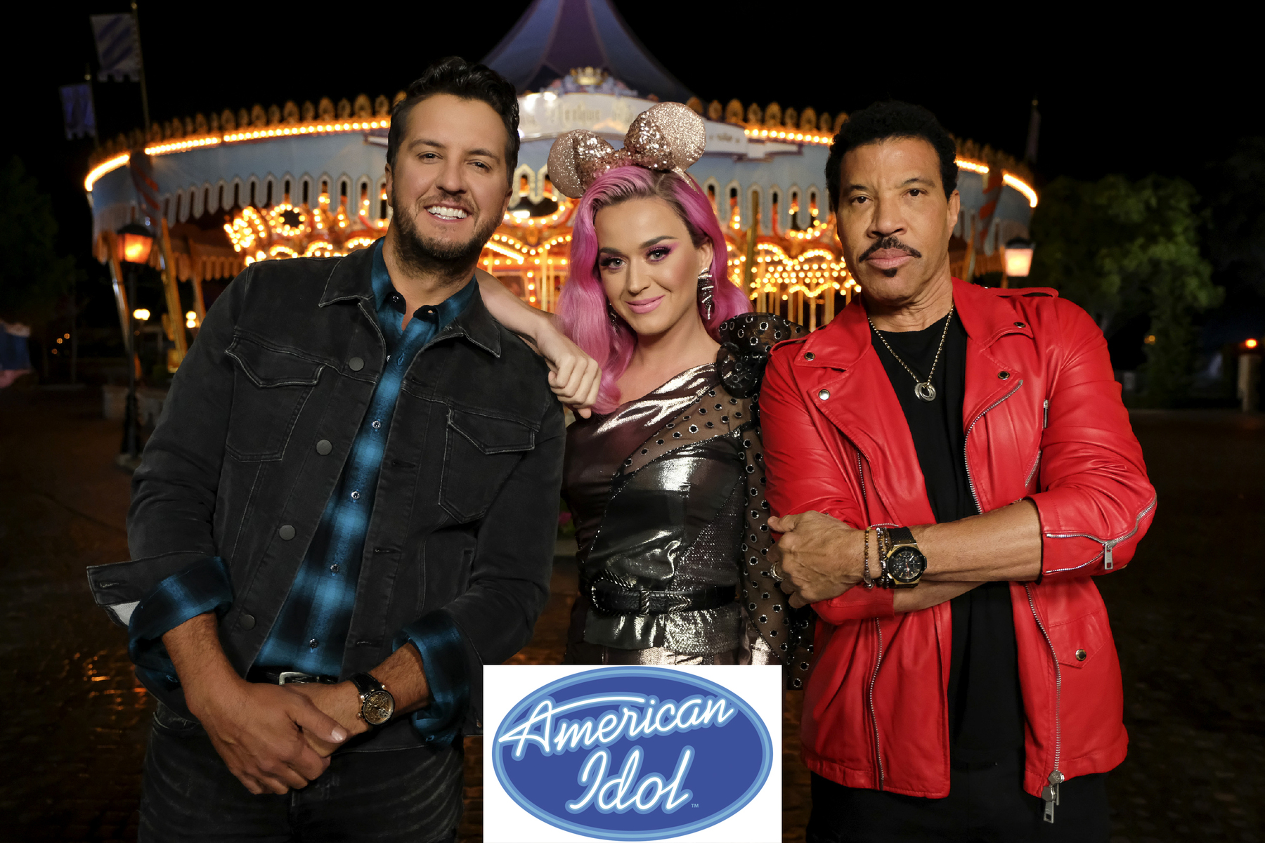 """214 (Disney Night)"" - ""American Idol""'s Top 10 contestants head to The Happiest Place On Earth, Disneyland Park in Anaheim, California, to prepare for the next phase of the competition, Disney Night. The finalists will be joined by celebrity mentor Rebel Wilson, who will offer up her pitch-perfect expertise as the superstar hopefuls prepare for their Disney-themed performances. All-star judges Katy Perry, Luke Bryan and Lionel Richie will perform a timeless Disney song in Disneyland Park's Fantasyland. The Top 10 will then return to the iconic Idol stage in Los Angeles to perform fan-favorite Disney songs, in hopes of winning America's heart and vote for a spot in the Top 8. Joining the Top 10 to perform the beloved song ""Part of Your World"" from Disney's ""The Little Mermaid"" is singer and actress Lea Michele. Also, America's sweethearts, ABC's Season 1 ""American Idol"" winner, Maddie Poppe, and runner-up Caleb Lee Hutchinson, return to the stage to sing a Disney classic during a special duet performance. The magic takes place SUNDAY, APRIL 21 (8:00-10:01 p.m. EDT/5:00-7:01 p.m. PDT), on The ABC Television Network. (ABC/John Fleenor)