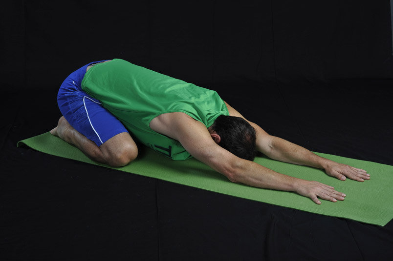 Gentle stretch for the hips, thighs, ankles and can give back relief