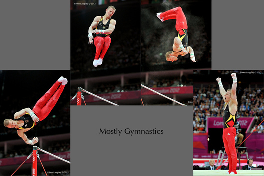 Fabia Hambuchen (Germany) competing on high bar at the Gymnastics competition of the London 2012 Olympic Games.