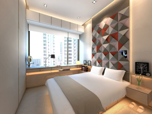 Daughter Bedroom design of a contemporary luxury residential condominium home interior in Ardmore III in Singapore designed by AND lab.