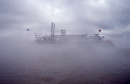 Natchez heading into the fog near New Orleans, LA