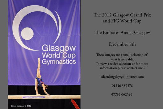 Vanessa Ferrari (italy) competing on Balance Beam at the 2012 FIG World Cup in the Emirates Arena Glasgow December 8th