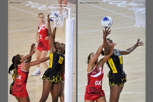 The Netball semi final between England and Jamaica was a closely fough battle at the 2014 Glasgow Commonwealth Games.
