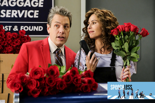 "SPEECHLESS - ""J-I-- JIMMY V-A-L-- VALENTINE"" - JJ's love-match with Izzy becomes a cage match with Kenneth. Maya and Jimmy dismiss Valentine's Day as a holiday for suckers until they find a way to profit from it. Unable to find a date to a prepaid romantic night out, Ray brings Dylan, on an all-new episode of ""Speechless,"" airing FRIDAY, FEB. 15 (8:30-9:00 p.m. EST), as part of the new TGIF programming block on The ABC Television Network. (ABC/John Fleenor)