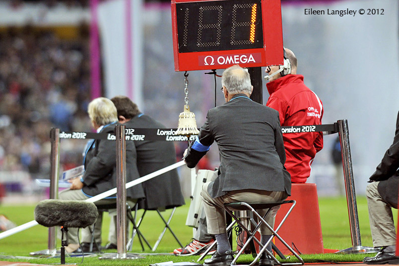 One of the many officials working to support during the Athletic competition at the London 2012 Paralympic Games.