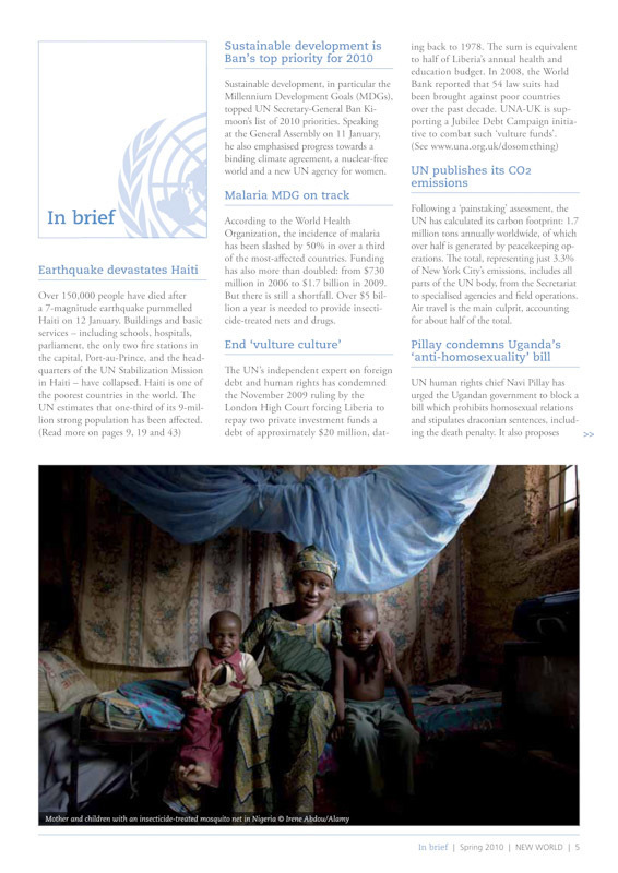 """New World"" Magazine. 1/2-page photograph, Spring 2010 Issue.