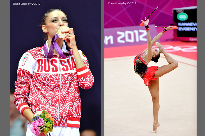 Evgeniya Kanaeva (Ruusia) wins the gold medal in the Rhythmic Gymnastics competition of the London 2012 Olympic Games.