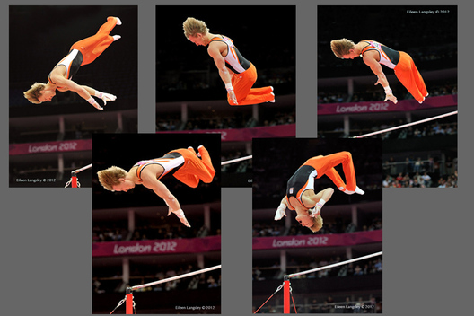 Epke Zonderland (Netherlands) winner of the gold medal in High Bar at the London 2012 Olympic Games.