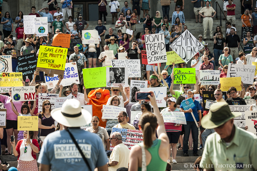 """March for Science,"" in Columbia SC, one of nearly 500 rallies across the US on Earth Day 2017"