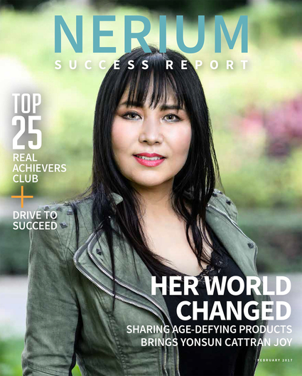 Yonsun Cattran, Nerium International 5-Star National Marketing Director (NMD) for SUCCESS Magazine's cover story