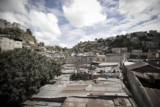 The La Limonada slum in Guatemala City