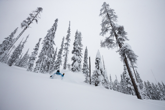Skiing at Blacktail Mountain, Montana