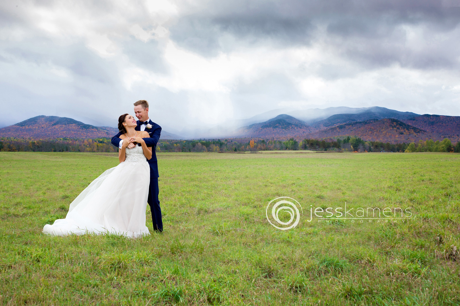 wedding portraits in lake placid new york