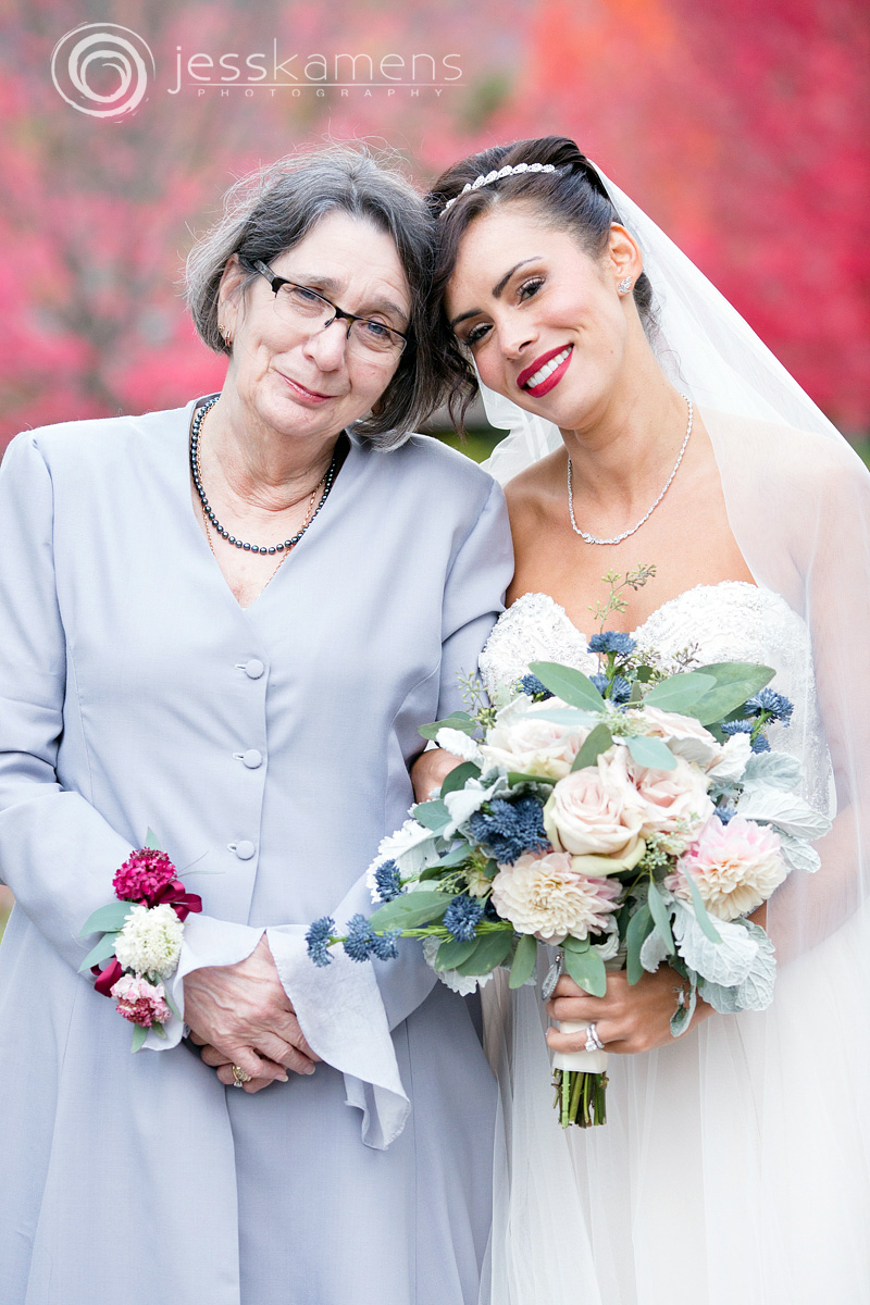 mother of the bride with her daughter.