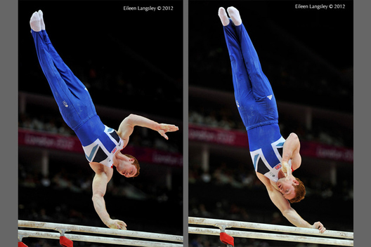 Daniel Purvis (Great Britain) competing on Parallel Bars during the Artistic Gymnastics competition of the London 2012 Olympic Games.