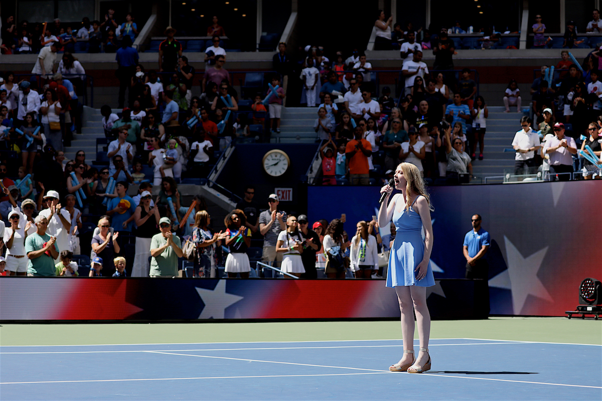 Violet Young National Anthem Arthur Ashe Kids