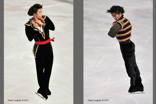 Takahito Mura (Japan) competing in the short and long programmes at the 2012 ISU Grand Prix Trophy Eric Bompard at the Palais Omnisports Bercy