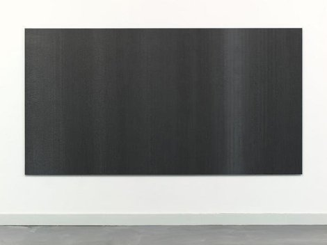 48 inches x 89 inches Poured Oil, Graphite on Aluminum, 2011
