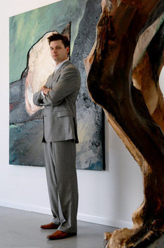 James Salomon of the Salomon Contemporary gallery in East Hampton, NY