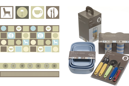 Branding and packaging for a range of Back to College homeware products.