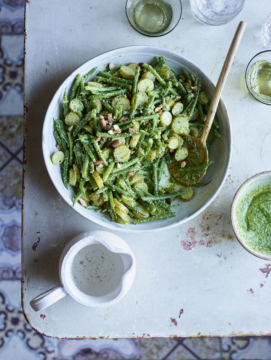 Green Bean Salad with New Potatoes and Pesto + A170202 + Food & Wine + Home Away From Home + Sicily + May 2017