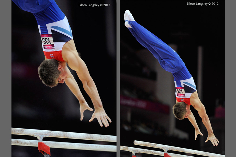 Max Whitlock (Great Britain) competing on Parallel Bars during the apparatus final competition at the 2012 London Olympic Games.
