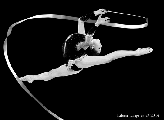 Danielle Prince (Australia) competing with Ribbon during the Rhythmic Gymnastics competitions at the 2014 Glasgow Commonwealth Games.