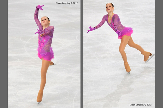 Julia Lipnitskaia (Russia) competing in the long programme at the 2012 ISU Grand Prix Trophy Eric Bompard at the Palais Omnisports Bercy