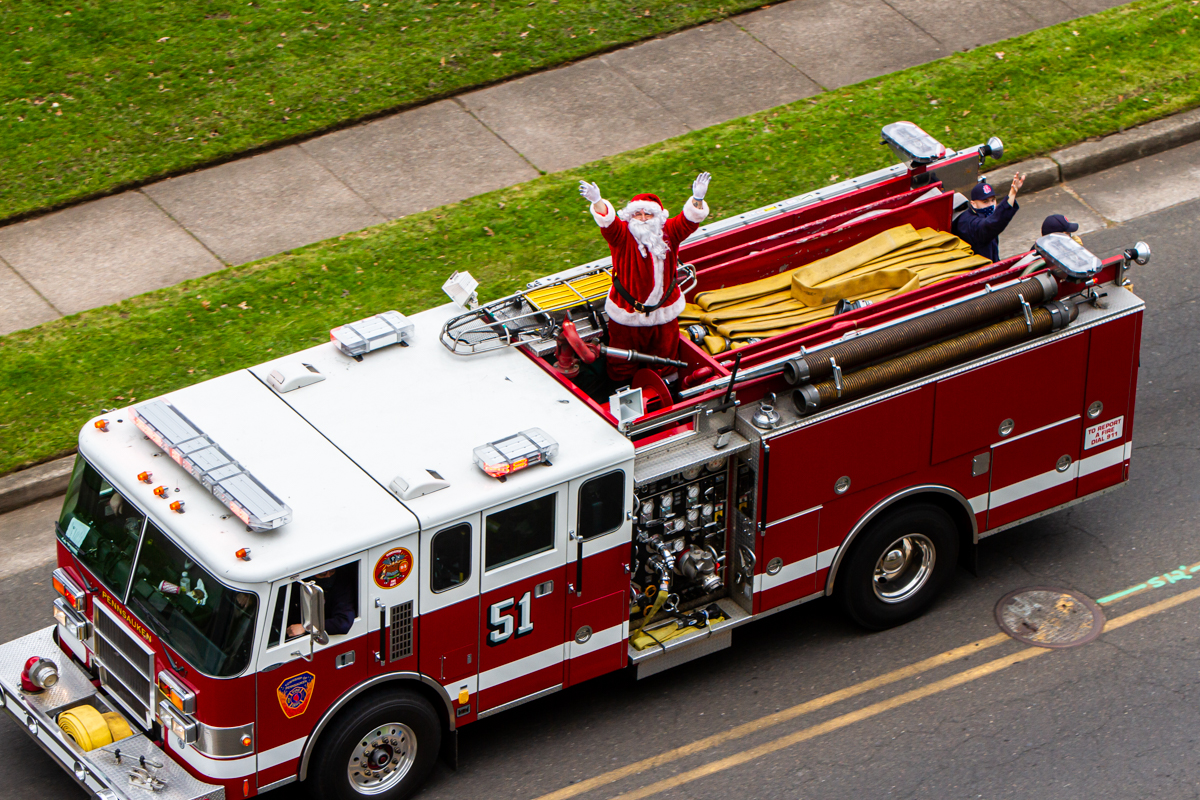 Santa on Fire Pennsauken, NJ December 12, 2020