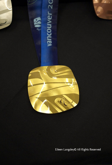 One of the gold medals awarded at the 2010 Vancouver Winter Olympic Games.