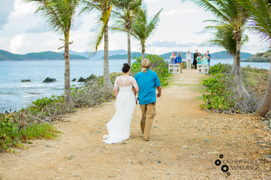 Intimate wedding in U.S. Virgin Islands, St. Thomas, Pretty Klip at Sapphire beach wedding ceremony