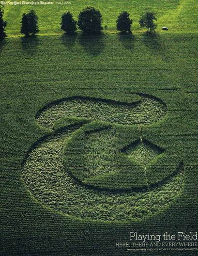 crop circle logo in upstate ny. the red dot in the pic is me!