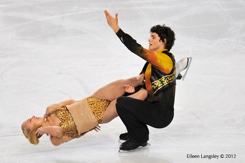 Piper Gilles and Paul Poirier (Canada) competing at the 2012 ISU Grand Prix Trophy Eric Bompard at the Palais Omnisports Bercy