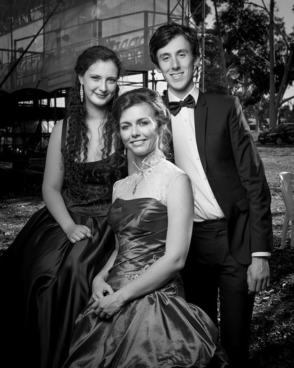 Singers from the Opera Scholars Australia backstage