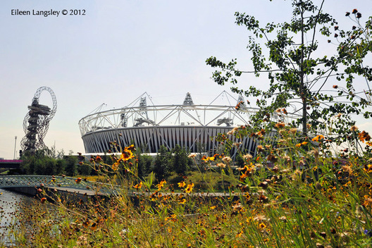 The Olympic Stadium, venue for the Athletics competitions and ceremonies  of the London 2012 Paralympic Games.