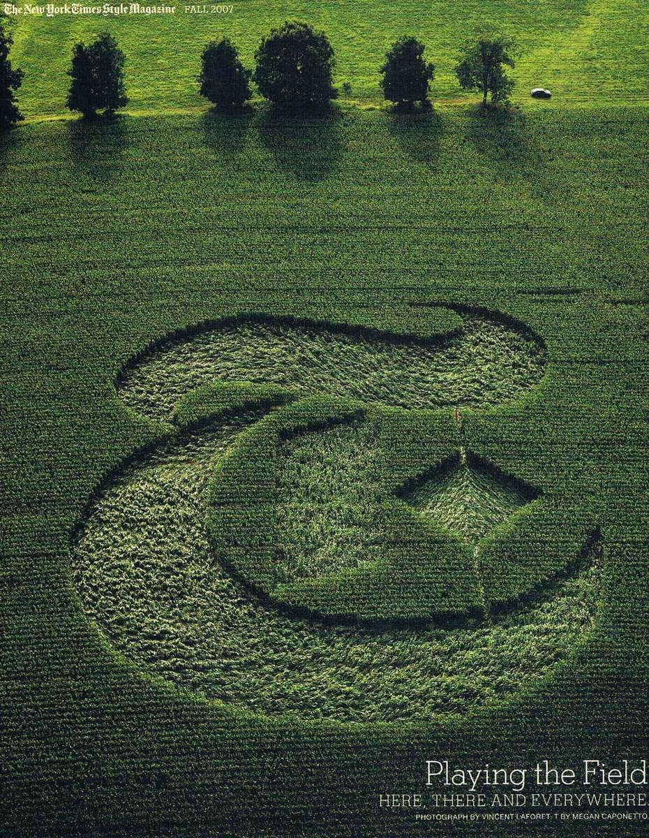 crop circle logo. the red dot in the pic is me!