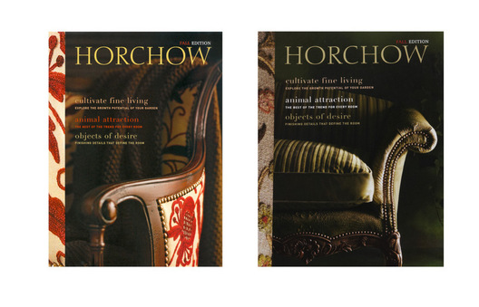 First issue for Horchow Magalog with an editorial design and copy approach placing emphasis on Horchow.com for full product assortment.