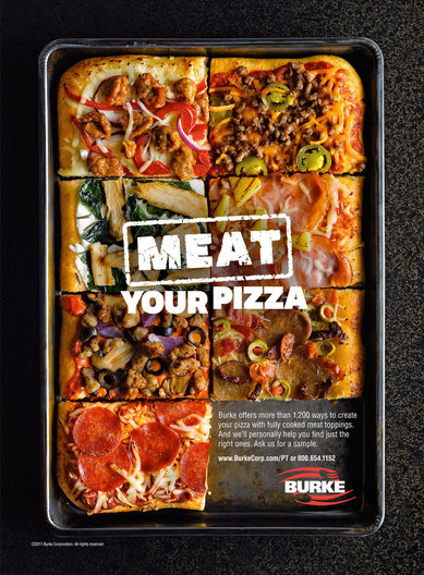 Burke Meat Your Pizza Pizza Today Ad