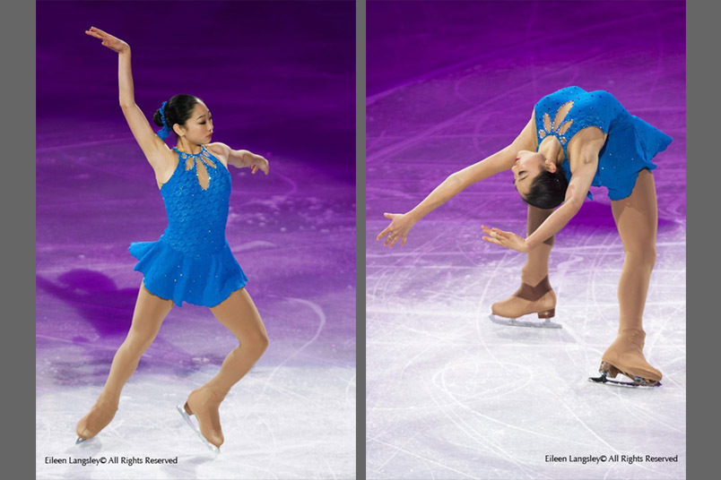 Mirai Nagasu (USA) performs an artistic routine at the exhibition for the Figure Skating competition at the 2010 Winter Olympic Games in Vancouver.