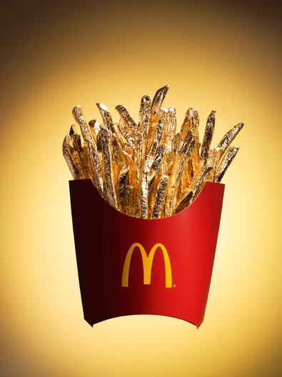 gilded mcdonald's french fries