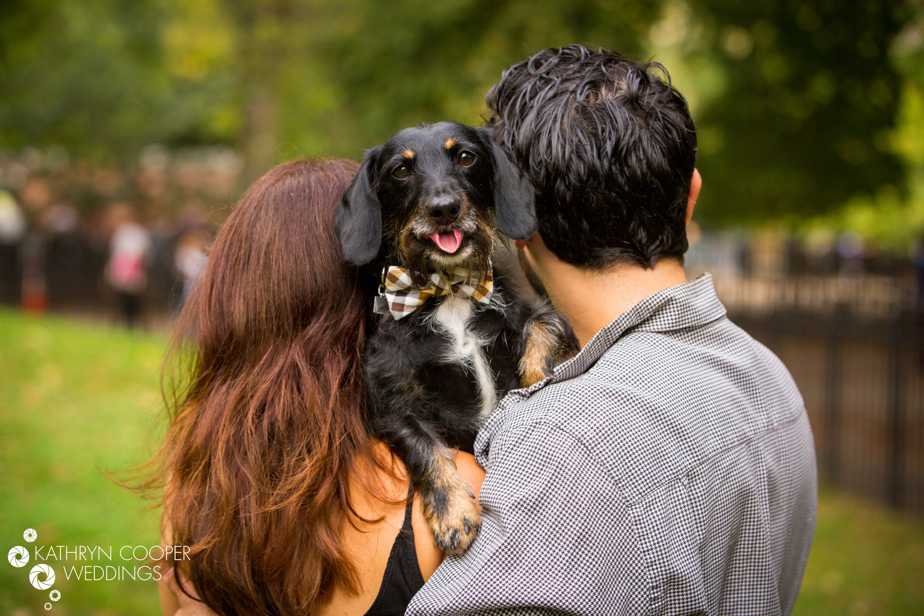 NYC elopement photographer and couple with dog on LES